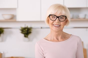 An older woman smiling