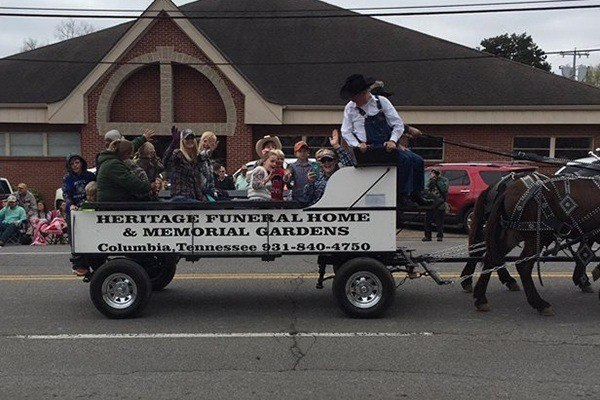 Mule Day parade float