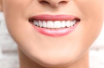 close up white smile