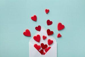 Valentine's Day gift envelope