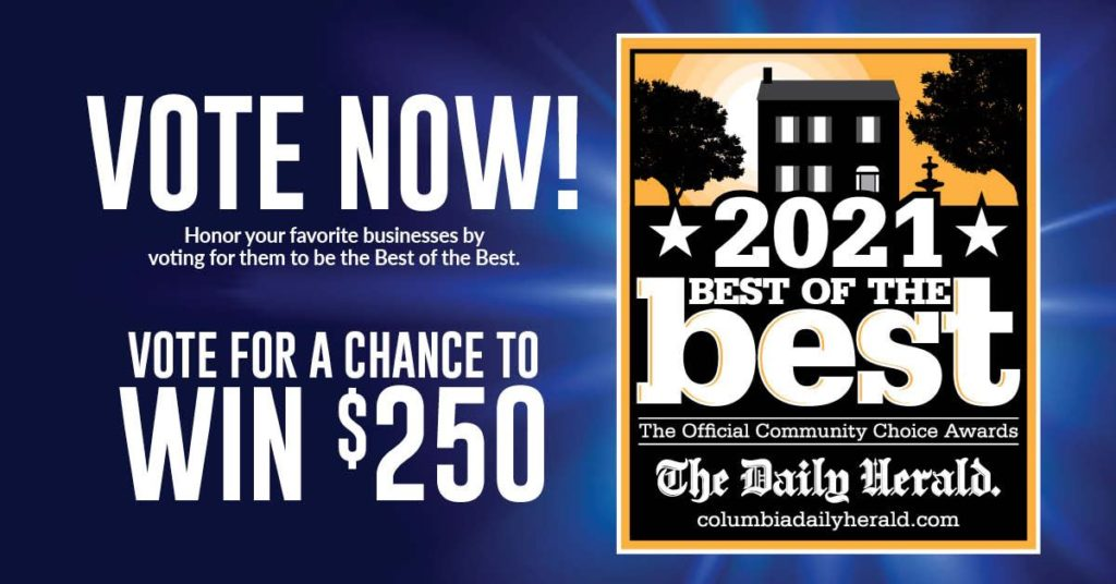 Promotional graphic for 2021 best of the best awards
